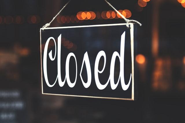 Shops und Läden geschlossen