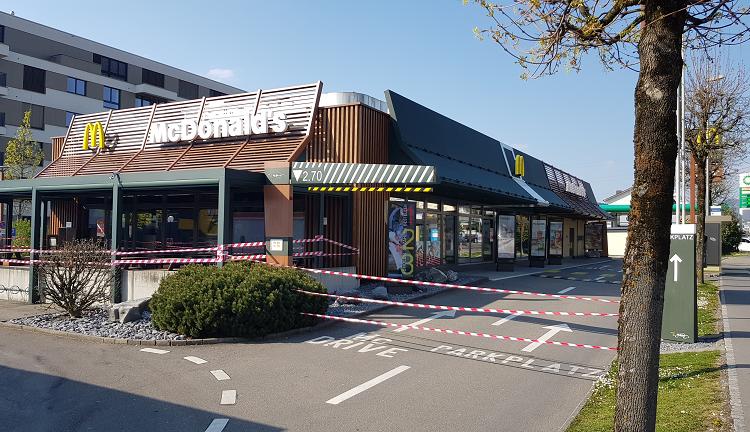 McDonald geschlossen – auch Drive in