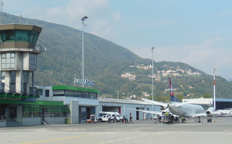 Lugano Airport gestrandet