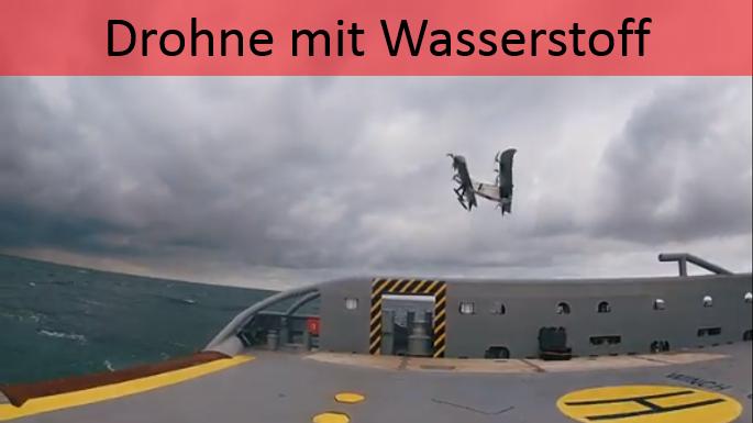 Marine-Drohne fliegt mit Wasserstoff