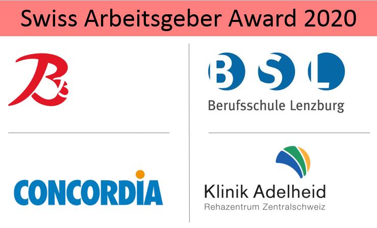 Die Gewinner des 20. Swiss Arbeitgeber Award 2020