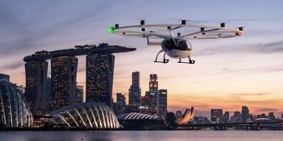 Volocopter wird Flugtaxidienste in Singapur anbieten